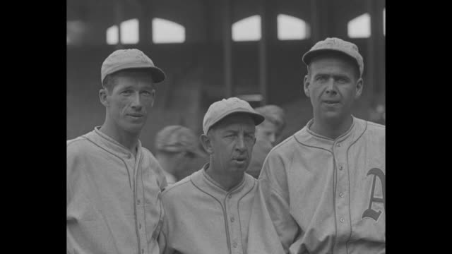 'American League Crown goes to Philadelphia as Athletics beat White Sox to clench second straight pennant' / Kid Gleason Eddie Collins and Manager...