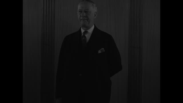 stockvideo's en b-roll-footage met and former gov al smith pioneer foe of prohibition / cu smith speaks of course i am delighted but not surprised at the final repeal of the... - al smith