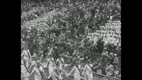"""archbishop curley celebrates field mass in washington - catholics gather in brookland stadium for solemn religious celebration"" / catholic groups... - gottesdienst stock-videos und b-roll-filmmaterial"