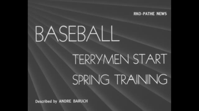 baseball terrymen start spring training / new york giants baseball players warming up with game of leap frog / giants manager bill terry watches... - hoppa bock bildbanksvideor och videomaterial från bakom kulisserna