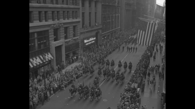big city pays tribute to gen dean superimposed over us major general william dean waving from parade car after returning home from being pow in... - ticker tape stock videos and b-roll footage