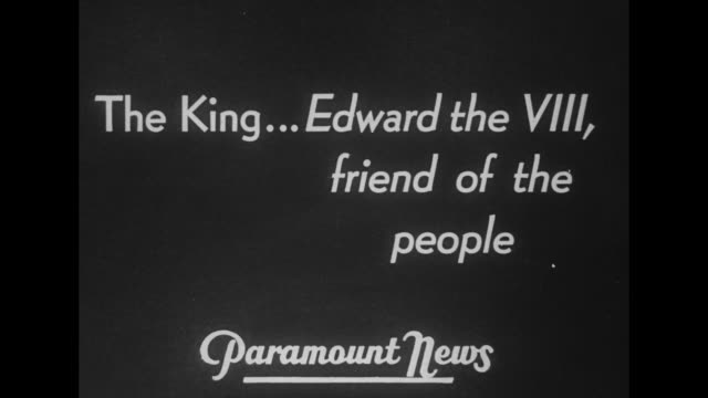 'biggest story' of today king vs cabinet / title card paramount news presents a pictorial summary of the dramatis personae in 'the lady or the... - tam bildbanksvideor och videomaterial från bakom kulisserna