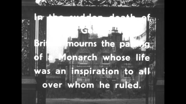 Britain Mourns superimposed over the Norwich Gates of Sandringham House / ƒBritain mourns the passing of the Monarch whose life was an inspiration to...