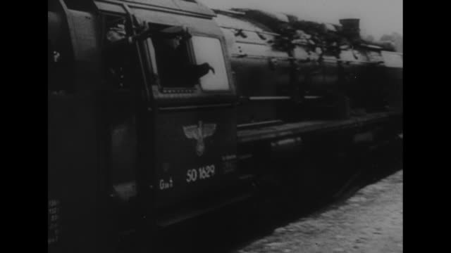 """bulgaria, death of boris sets off balkan crisis"" / train carrying boris rolls past camera, boris giving nazi salute out of window as train rolls... - bulgaria stock videos & royalty-free footage"