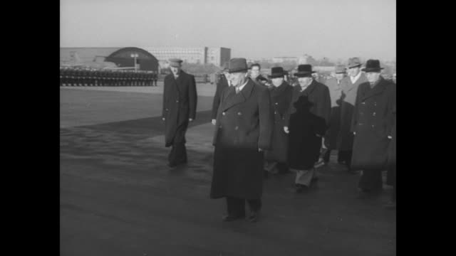 burma's u nu pays a visit to moscow superimposed over u nu walking down airstairs as he arrives in moscow / soviet premier nikolai bulganin leads a... - nu stock videos and b-roll footage