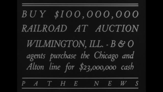 buy $100000 railroad at auctionwilmington illbo agents purchase the chicago and alton line for $23000 cash / wilmington railroad station with people... - card table stock videos and b-roll footage
