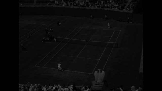 california rules tennis helen jacobs of berkeley outplays carolin babcock of los angeles for us women's singles in forest hills ny / looking down on... - angeles national forest stock videos and b-roll footage