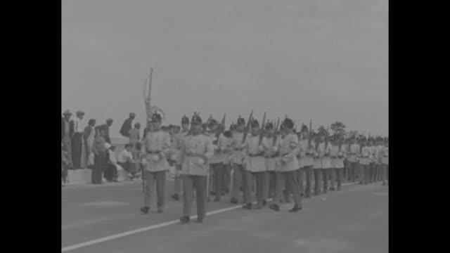 """cape cod hails new bridge!"" bourne bridge over cape cod canal / concrete pilings and bridge / ma lt. governor joe hurley, ma governor james michael... - drawbridge stock videos & royalty-free footage"