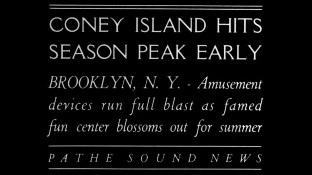 coney island hits season peak early brooklyn ny amusement devices run full blast as famed fun center blossoms out for summer / three shots of people... - coney island brooklyn stock videos & royalty-free footage