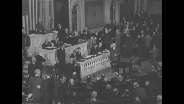 """""""congress in action! here is dramatic scene when repeal revolution was broken"""" / vs the house of representatives chamber with hundreds of men / vs... - legislator stock videos & royalty-free footage"""
