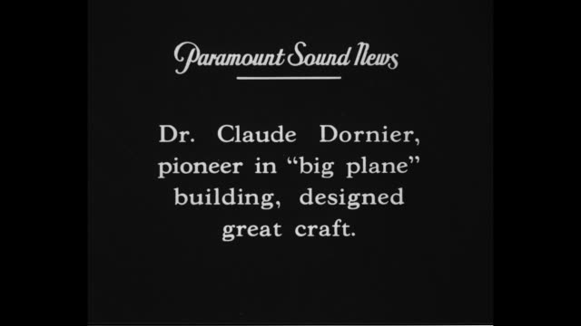 'Dr Claude Dornier pioneer in 'big plane' building designed great craft' / CU Claude Dornier and wife 'We very much enjoy our visit to England We had...