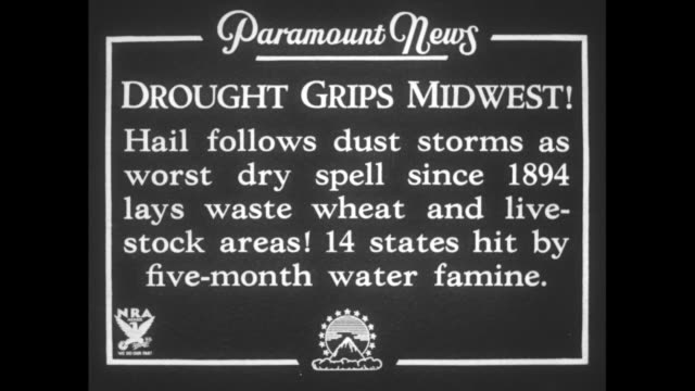 drought grips midwest hail follows dust storms as worst dry spell since 1894 lays waste wheat and livestock areas 14 states hit by fivemonth water... - dust bowl stock videos and b-roll footage