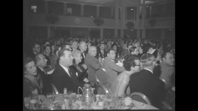 eddie cantor honored on 60th birthday superimposed over ms entertainer eddie cantor wearing a tuxedo and seated next to his wife ida at the gala... - vice president stock videos and b-roll footage