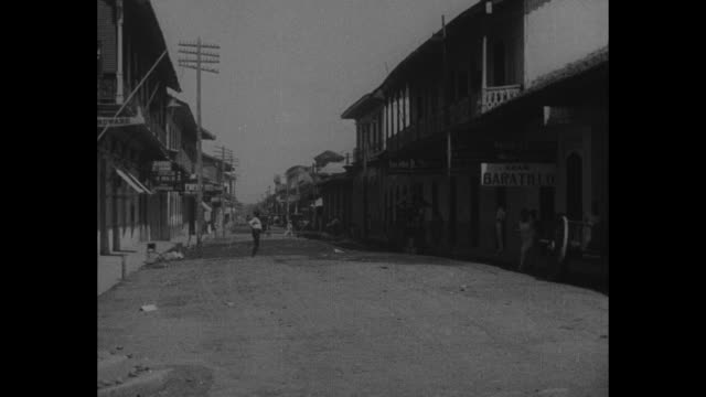 vídeos de stock e filmes b-roll de editor's note these pictures show managua city of 60000 souls shortly before the disaster which laid it in ruins a thousand us marines stationed in... - 1931