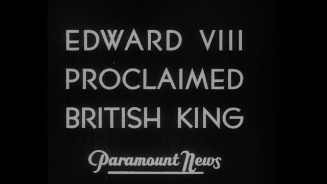 edward viii proclaimed king / ws spectators fill ground around duke of wellington statue can see blues and royals guard beyond crowd / blues and... - edward viii stock videos & royalty-free footage