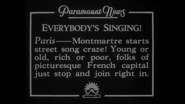 everybody's singing paris montmartre starts street song craze young or old rich or poor folks of picturesque french capital just stop and join right... - {{ contactusnotification.cta }} stock videos & royalty-free footage