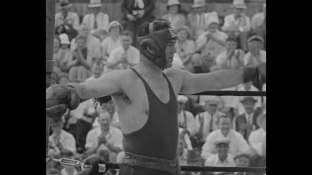 exchamps fight lake swannanoa nj here is a match the world would pay to see max schmeling and jack dempsey box for charity in exhibition bout / ms... - world title stock videos and b-roll footage