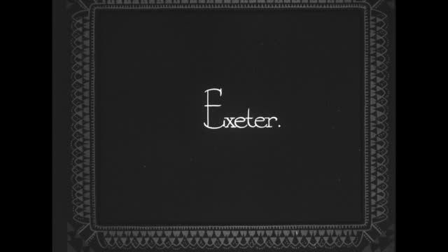 exeter / flyover of exeter cathedral / note exact year not known - exeter cathedral stock videos & royalty-free footage