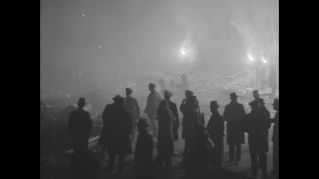 """first shock came at dusk""""all night long hundreds of thousands sought safety in the open sensational scenes made while the earth still shook give the... - 1933 stock videos and b-roll footage"""