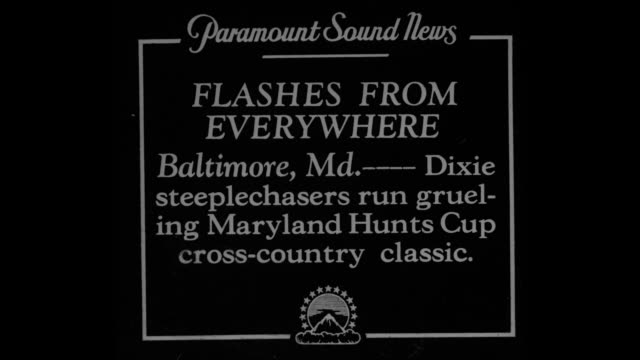 flashes from everywhere baltimore mddixie steeplechasers run grueling maryland hunts [sic] cup crosscountry classic / crowd watches horses run and... - steeplechase stock videos and b-roll footage