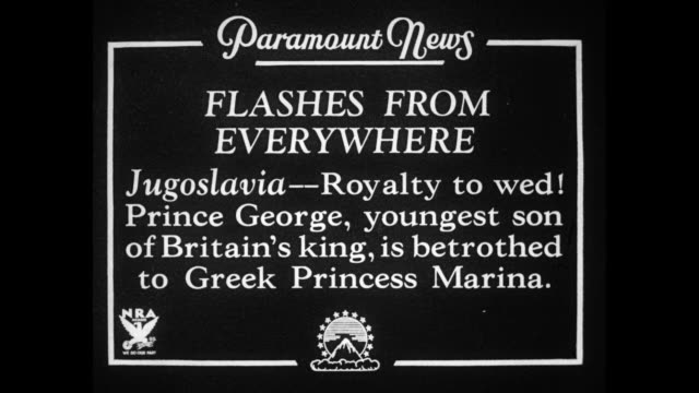 Flashes From Everywhere Jugoslavia Royalty to wed Prince George youngest son of Britain's king is betrothed to Greek Princess Marina / George and...