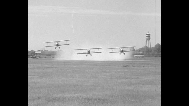 flyers dive to ground at 4milesaminute to fire at target first observation squadron of army air corps stages spectacular gunnery drill at aberdeen... - fire drill stock videos & royalty-free footage