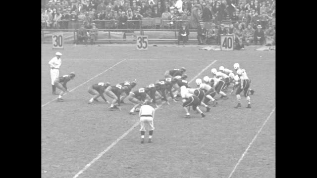 """""""football leaders in action"""" / colgate raiders kick off to tulane green wave in new york city game / line of scrimmage, fumble, colgate recovery /... - colgate university stock videos & royalty-free footage"""