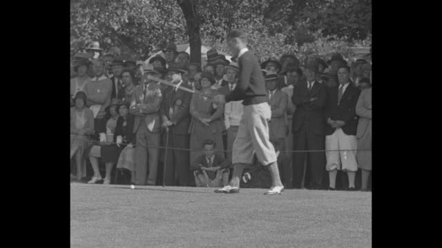 """""""from caddie to king! providence - entire pro field bows to 20-year-old ex-caddie! tom creavy wins championship over densmore shute"""" / at... - pgaイベント点の映像素材/bロール"""