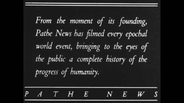 from the moment of its founding pathe news has filmed every epochal world event bringing to the eyes of the public a complete history of the progress... - 1900 1909 stock-videos und b-roll-filmmaterial