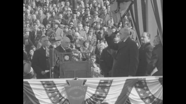 Gifford Pinchot Becomes Governor Harrisburg Pennsylvania Retiring Executive Fisher escorts successor to Capitol for inaugural / Title card Taking the...