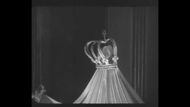grace kelly and prince are stars at ball superimposed over ws the ballroom at the waldorfastoria in nyc site of the imperial ball a night in monte... - fiancé stock videos and b-roll footage