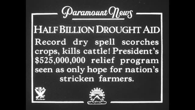 half billion drought aid record dry spell scorches crops kills cattle president's $424000 relief program seen as only hope for nation's stricken... - dust bowl stock videos and b-roll footage