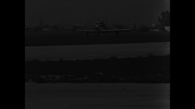 he calls it his whatsit glendale calif new tailless plane really flies tomorrow's air 'flivver' makes more than a hundred miles per hour and turns on... - dime stock videos and b-roll footage