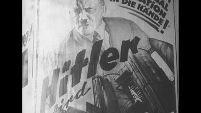 hindenburg at helm after triumph in german elections these pictures show highlights of exciting campaign climaxed by the victory of reichspresident... - nazi swastika stock videos and b-roll footage