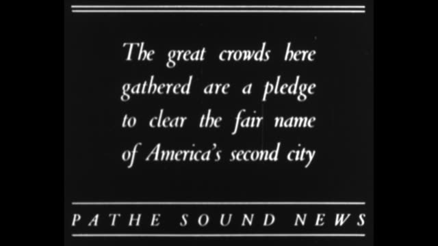 """""""honor martyr of fourth estate, chicago tribune reporter alfred j. lingle is given solemn tribute by his city"""" / title card: """"with the journals of... - street name sign video stock e b–roll"""