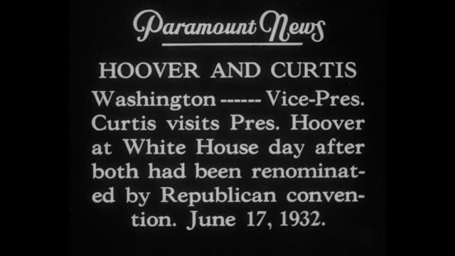 hoover and curtis washington vicepresident curtis visits pres hoover at white house day after both had been renominated by republican convention june... - herbert hoover us president stock videos & royalty-free footage