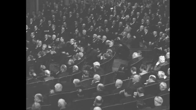 hoover calls on nation to follow path of washington president tells congress father of our country laid true foundation for our national life opening... - george washington stock videos and b-roll footage