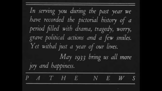 In serving you during the past year we have recorded the pictorial history of a period filled with drama tragedy worry grave political actions and a...