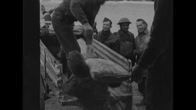 indian mules carry supplies to front france / world war ii train station with mules and carts and soldiers / mules and mule carts being loaded /... - maultier stock-videos und b-roll-filmmaterial