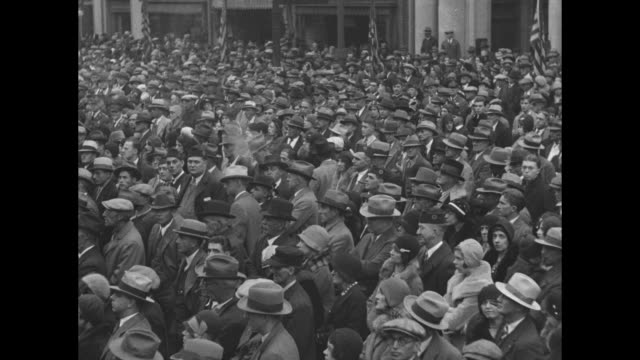 indiana recalls ending of war lafayette purdue university and american legion observe the twelfth anniversary of the armistice / a marching band with... - armistice stock videos and b-roll footage