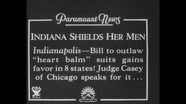 Indiana Shields Her Men Indianapolis Bill to outlaw 'heart balm' suits gains favor in 8 states Judge Casey of Chicago speaks for it / Judge Casey...