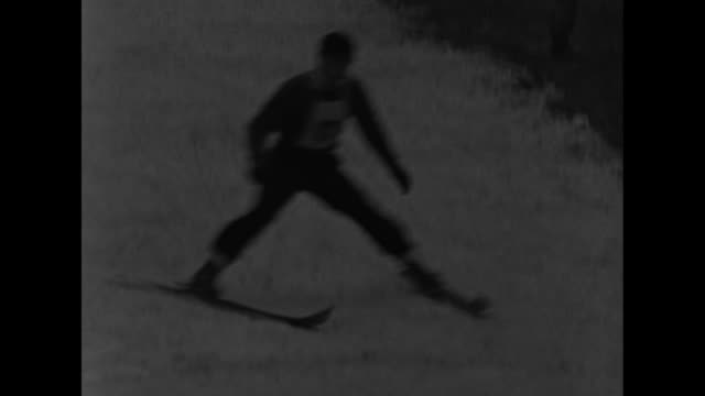 """""""it's the viking in 'em! cary, ill - norge ski club stars look to olympics! 85 jumpers, some of the best in the us, hit stride in midwinter meet!"""" /... - reverse motion stock videos & royalty-free footage"""