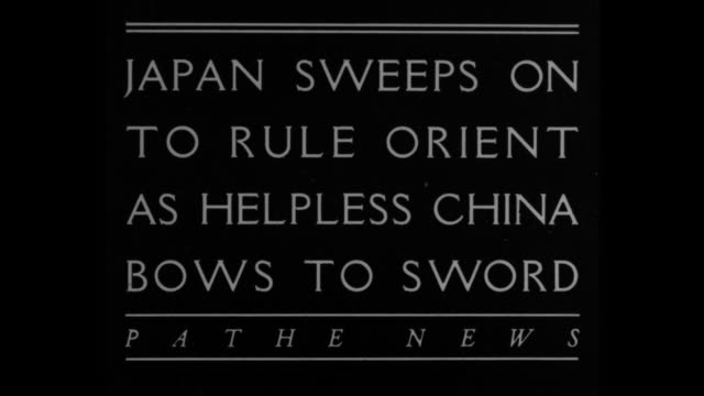 japan sweeps on to rule orient as helpless china bows to sword - 満州地方点の映像素材/bロール