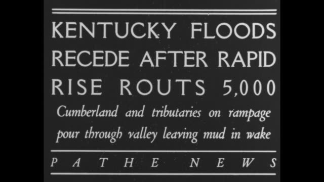 """kentucky floods recede after rapid rise routs 5,000 - cumberland and tributaries on rampage pour through valley leaving mud in wake"" / various shots... - mud stock videos & royalty-free footage"