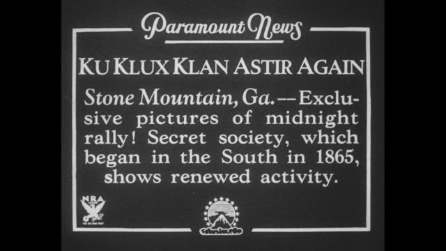 vídeos de stock, filmes e b-roll de klu klux klan astir again stone mountain ga exclusive pictures of midnight rally secret society which began in the south in 1865 shows renewed... - ku klux klan