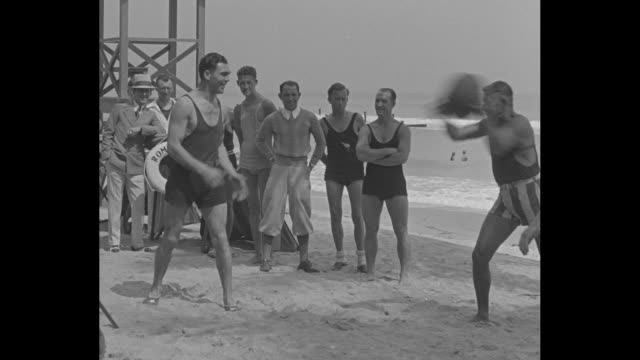 Max Schmeling Miami Beach Max Schmeling world's heavyweight champion goes through beach workout at Florida training camp / Schmeling on beach...