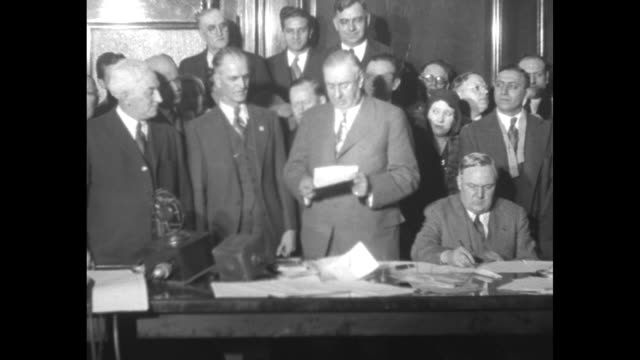 mayor thompson thanks voters for victory republican nominee attributes triumph to ideals for which he fought / william hale thompson standing at... - card table stock videos and b-roll footage
