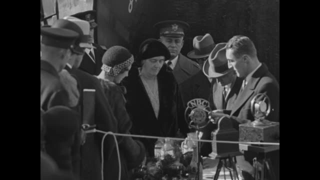 mrs hoover names ship for president newport news va first lady and tiny grandson herbert hoover 3rd sponsor 23000ton liner / men knocking out wooden... - card table stock videos and b-roll footage