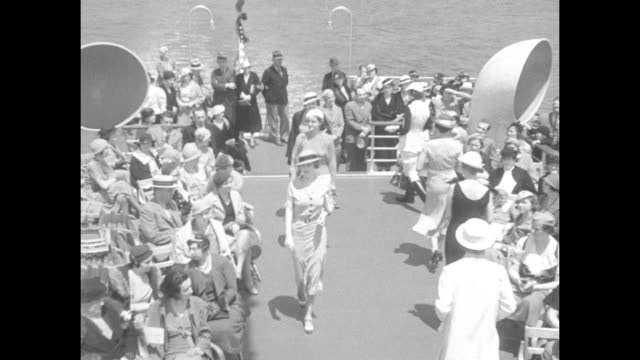 nautical but nice new york down to the sea in slips modish mannequins aboard ship display novel summer styles the very latest in this and that / slow... - sailor suit stock videos and b-roll footage