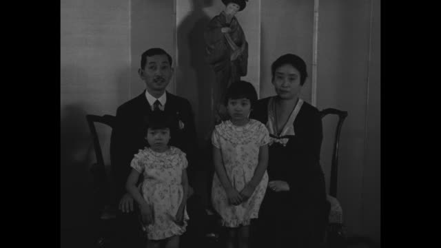 new envoy from japan for peace ambassador hirosi saito [sic] and his family greet america/ new japanese ambassador to the us hiroshi saito and wife... - month stock videos & royalty-free footage